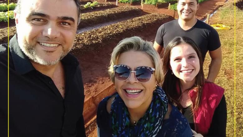 Representantes da CBM visitam horta da Penitenciária de Piracicaba